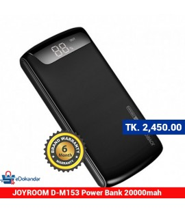 JOYROOM D-M153 Wiseway series power bank 20000mah-White & black