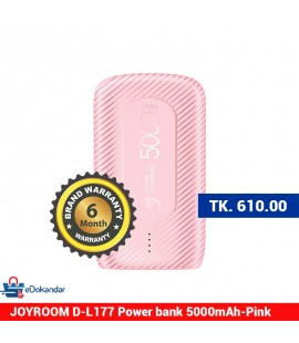 JOYROOM D-L177 Power bank 5000mAh-Pink
