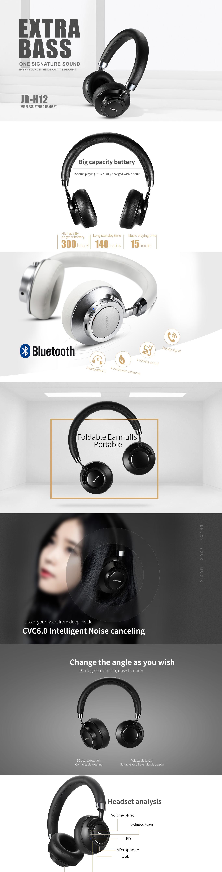 5d0439b6ada Joyroom JR-H12 bluetooth headphone
